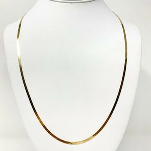 Jewelry - 14k Gold 2.3mm Herringbone Link Chain Necklace 24""
